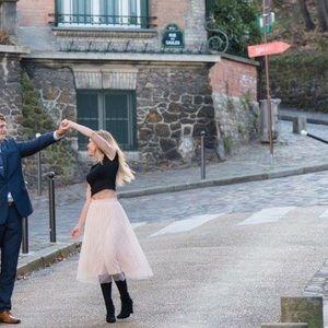 Pink ballet tulle skirt